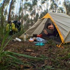 A primeira manhã da viagem! Camping na beira da Estrada dos Romeiros